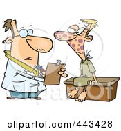 Royalty Free RF Clip Art Illustration Of A Cartoon Doctor With A Patient