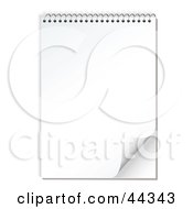 Royalty Free RF Clip Art Of A Spiral Notepad With Paper Peel