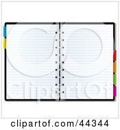 Royalty Free RF Clip Art Of Blank Paper In An Organizer Planner