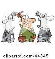 Royalty Free RF Clip Art Illustration Of A Cartoon Businessman Standing Out