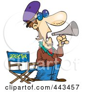 Royalty Free RF Clip Art Illustration Of A Cartoon Movie Director by toonaday