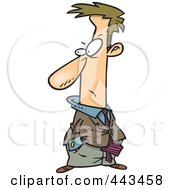 Royalty Free RF Clip Art Illustration Of A Cartoon Disgusted Businessman