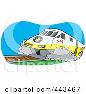 Royalty Free RF Clip Art Illustration Of A Cartoon Diesel Tram by toonaday