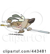 Royalty Free RF Clip Art Illustration Of A Cartoon Dog Vaulting