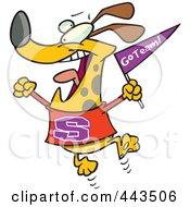 Cartoon Cheering Dog