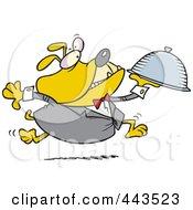 Royalty Free RF Clip Art Illustration Of A Cartoon Bulldog Waiter by toonaday