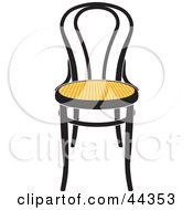 Black And Yellow Vienna Chair Facing Front