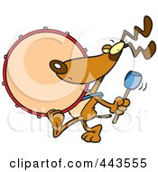 Royalty Free RF Clip Art Illustration Of A Cartoon Drummer Dog by toonaday