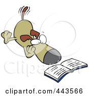 Royalty Free RF Clip Art Illustration Of A Cartoon Reading Dog