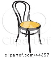 Black And Yellow Vienna Chair Facing Slightly Right