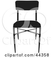 Simple Black And White Chair Facing Front