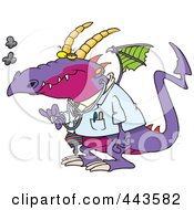 Royalty Free RF Clip Art Illustration Of A Cartoon Doctor Dragon by toonaday