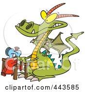Cartoon Sewing Dragon