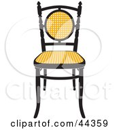 Vintage Black And Yellow Chair Facing Front