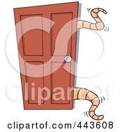 Cartoon Tentacles Opening A Closet Door