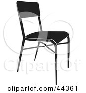 Simple Black And White Chair Facing Slight Right