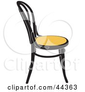 Black And Yellow Vienna Chair Facing Right