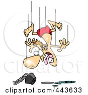 Royalty Free RF Clip Art Illustration Of A Cartoon Man Jumping In An Empty Pool