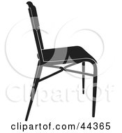 Simple Black And White Chair Facing Right