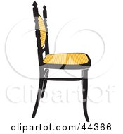 Vintage Black And Yellow Chair Facing Right