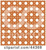 Clipart Illustration Of An Orange Wicker Pattern Background by Frisko #COLLC44368-0114