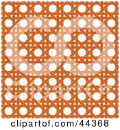 Clipart Illustration Of An Orange Wicker Pattern Background