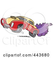Royalty Free RF Clip Art Illustration Of A Cartoon Dragster by toonaday