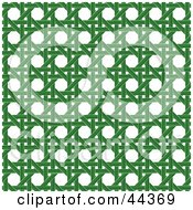 Clipart Illustration Of A Green Wicker Pattern Background
