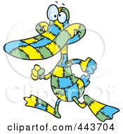 Royalty Free RF Clip Art Illustration Of A Cartoon Quilted Duck by toonaday