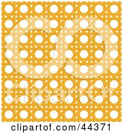 Clipart Illustration Of A Yellow Wicker Pattern Background by Frisko