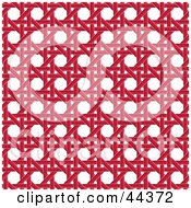 Clipart Illustration Of A Red Wicker Pattern Background