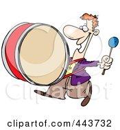 Cartoon Happy Drummer