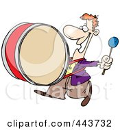 Royalty Free RF Clip Art Illustration Of A Cartoon Happy Drummer by toonaday