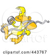 Royalty Free RF Clip Art Illustration Of A Cartoon Duck With Tape by toonaday