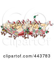 Royalty Free RF Clip Art Illustration Of Cartoon Drummers Drumming by toonaday