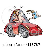 Royalty Free RF Clip Art Illustration Of A Cartoon Drunk Driver