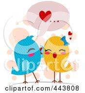 Love Birds Whispering Sweet Nothings