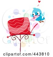 Royalty Free RF Clip Art Illustration Of A Love Bird Putting A Letter In A Mailbox