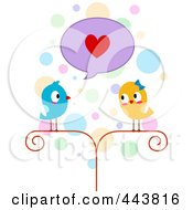 Royalty Free RF Clip Art Illustration Of A Lovebird Professing His Love