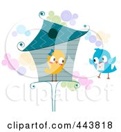 Royalty Free RF Clip Art Illustration Of A Love Bird Delivering A Letter by BNP Design Studio