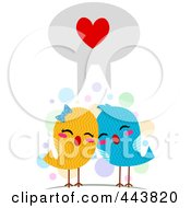 Royalty Free RF Clip Art Illustration Of Love Birds Speaking The Language Of Love