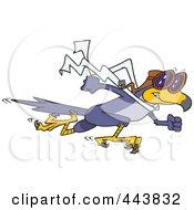 Royalty Free RF Clip Art Illustration Of A Cartoon Fast Falcon