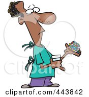 Royalty Free RF Clip Art Illustration Of A Cartoon Man Carrying Medications by toonaday