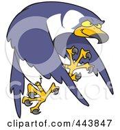 Royalty Free RF Clip Art Illustration Of A Cartoon Tough Falcon