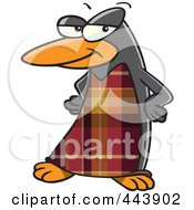 Cartoon Fashionable Penguin