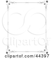 Clipart Illustration Of A Vertical Black And White Frame Border by Frisko