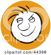 Clipart Illustration Of A Man With A Sneaky Facial Expression