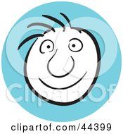 Clipart Illustration Of A Man With A Happy Facial Expression