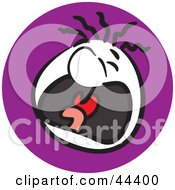 Clipart Illustration Of A Man With A Crying Facial Expression