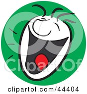 Clipart Illustration Of A Laughing Man With A Happy Facial Expression